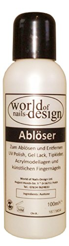 World of Nails-Design Ablöser Remover für Kunstnägel, UV Lack, Gel Polish 100 ml