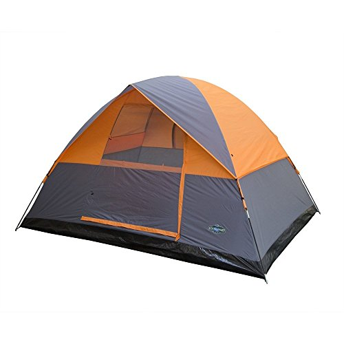 3 Season Tent - 8 X 10 X 6 Ft - Orange W/Gray Trim