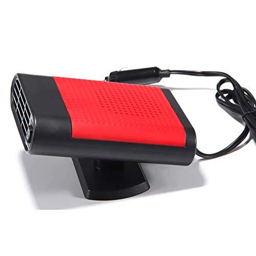 Calentador Coche Portátil 12V, Queta 12V 150W Calefactor Eléctrico y Ventilador Frío para Coches Pequeños y Medianos Descongelador de Coche, Portátil 360 grados Giratorio