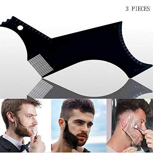 Mannen Baard Vormende Styling Sjabloon Kam Transparante Mannen Baden Kam Schoonheid Tool voor Haar Baard Trim Sjablonen