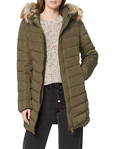 Only Onlellan Quilted Hood Fur Coat Otw Abrigo para Mujer