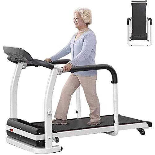 BANNAB Faltbares elektrisches Laufband für Senioren, multifunktionales Laufband, 0,5 bis 6 km/h, stille Stoßdämpfung, innere Extremitäten, Reha