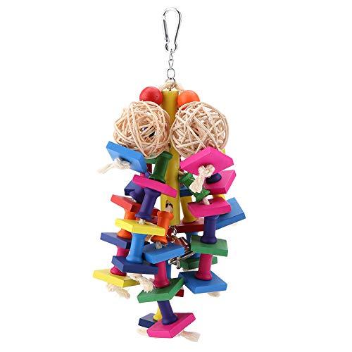 Vogelspeelgoed, kleurrijke houten blokken kauwspeelgoed Geschikt voor middelgrote en kleine papegaaien en vogels