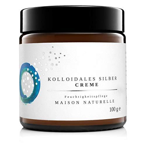 MAISON NATURELLE ® - Kolloidales Silber Creme (100 g) - VERGLEICHSSIEGER 2020 -natürliche Silbercreme mit 100 ppm Silberwasser