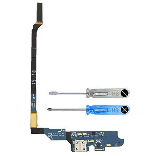 MMOBIEL Connettore Dock Compatibile con Samsung Galaxy S4 LTE i9505 Porta per caricare Micro Cavo Flessibile incl cacciaviti