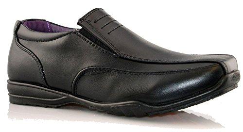 Us Brass Boys Slip On Back To School Black Shoes