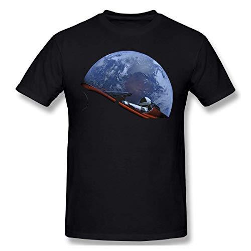 GSBTX® USA Starman in Orbit Around The Earth Spacex District Herren Klassisch T-Shirt Black