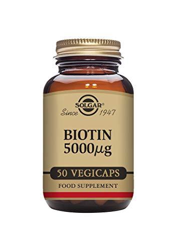 Solgar Biotin 5000 µg Vegetable Capsules, Pack of 50