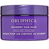 Obliphica Professional Seaberry Hair Mask - Hair Masks For Curly Hair Scalp Treatment Deep Conditioner For Dry Damaged Hair And Growth, 8.5 Ounce