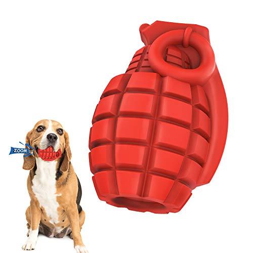 Iokheira Hund Kauspielzeug Spielzeug für Aggressive Kauer, Unzerstörbar Langlebiges Gummi Zähes Spielzeug für Zahnreinigung,Gelangweilt,Trainings Quietschend Spielzeug für Mittelgroße und Große Hunde