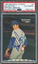1990 Mother's Cookies #3 Nolan Ryan PSA/DNA Certified Authentic Autographed Signed 1567