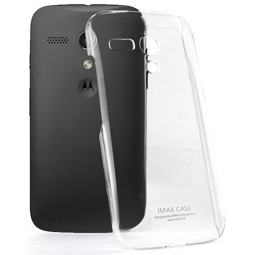 Imak Crystal Hot Transparent Thin Flip Hard Bumper Back Case Cover for Motorola Moto G 1st Generation XT1031 XT1032