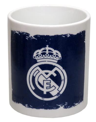 CYP BRANDS- Taza DE CERÁMICA EN Caja Real Madrid Utensilios de Cocina, Color Azul (Blanco), única (MG-46C-RM)