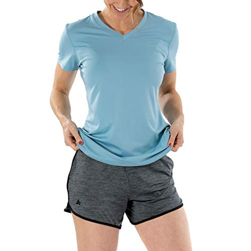 Arctic Cool Women's Instant Cooling Active Shorts with UPF 50+ Sun Protection, Storm Grey Twist, M