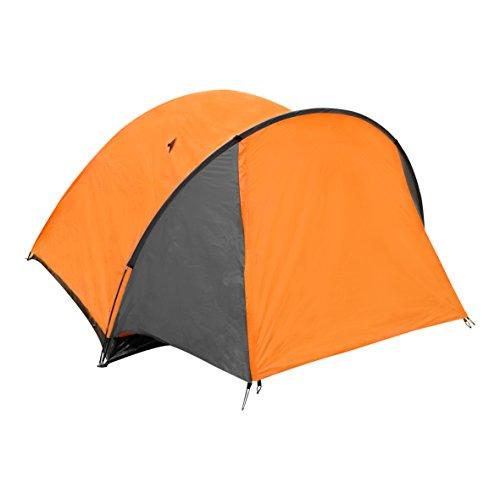Milestone Camping 4 Person Camping 18890 4 Man Super Dome Tent ~ Orange, Grey
