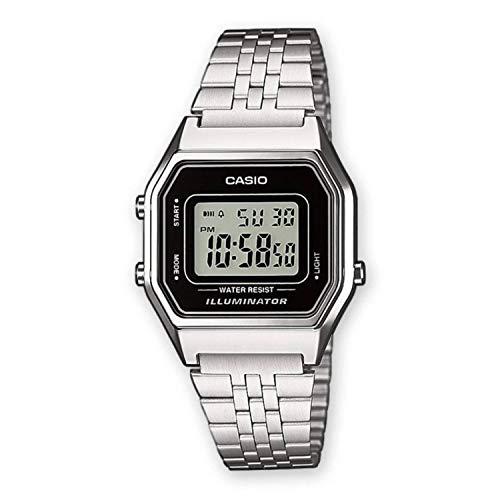 Casio La680Wa-1Df - Reloj de pulsera para mujer, estilo vintage, de acero, multifunción, digital