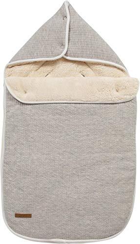 LITTLE DUTCH TE40330130 Fußsack für Babyschale 0+ pure grau