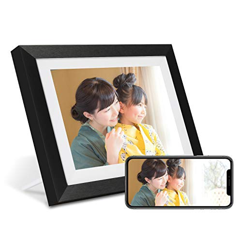 AEEZO WiFiデジタルフォトフレーム10.1インチIPSタッチスクリーンHDディスプレイ、16 GBストレージ、自動回...
