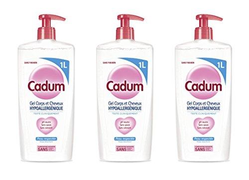Cadum Duschgel für Körper/Haare, hypoallergen, Format – 3 Stück