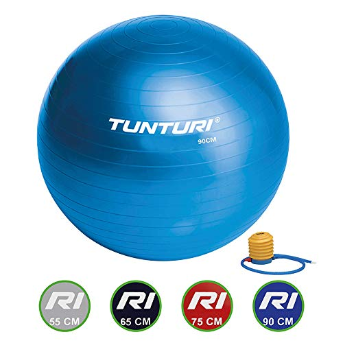 Tunturi Gymnastikball, Blau, 90 cm, 14TUSFU235