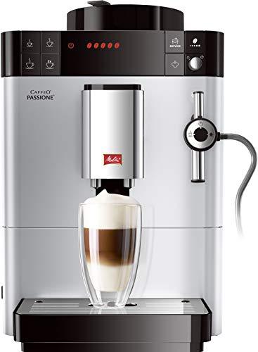 Melitta Machine à Café et Boissons Chaudes Automatique, Auto-Cappuccinatore, Caffeo Passione, Argent, F53/0-101