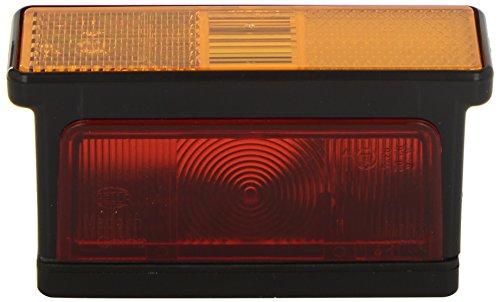 HELLA 2XS 007 841-011 Umrissleuchte - R10W - 12V/24V - Lichtscheibenfarbe: gelb/weiß/rot - Anbau/geschraubt - Einbauort: links/seitlicher Anbau
