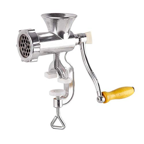 BUNRUN Manual Meat Grinder, Meat Mincer Aluminium Alloy Sausage Stuffer Sausage Maker Machine with Tabletop Clamp Dining Accessory Dining Accessory