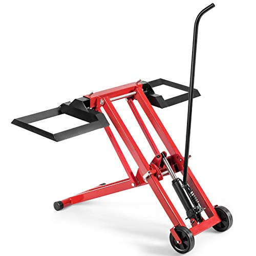 Goplus Lawn Mower Lift with Hydraulic Jack, 500-lb Capacity Easy Assembly Riding Mower Lift