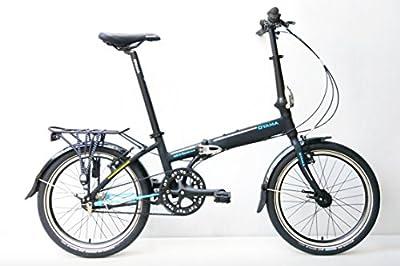 Oyama Skyline In7B Belt Drive Folding Bike (Matte Black)