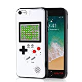 gameboy phone case for iphone 6/6s/7/8, handheld retro video game console compatible with 4.7-inch