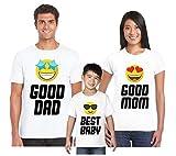 bubbleshirt T-Shirt Famiglia Tris Good Dad, Good Mom, Best Baby - Festa del Papa' - Festa della Mamma - Magliette Famiglia