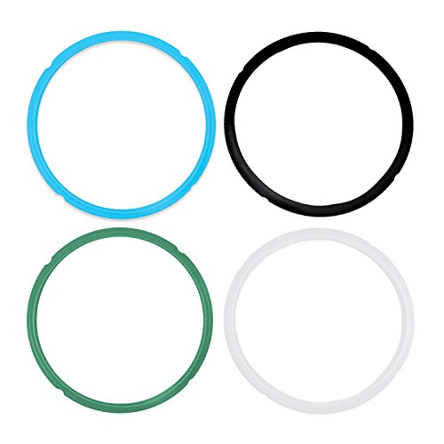 Pack of 4 Silicone Sealing Rings for Instant Pot 5 & 6 Quart - Fits IP-DUO60, IP-LUX60, IP-DUO50, IP-LUX50, Smart-60, IP-CSG60 and IP-CSG50