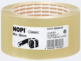 Nopi verpakkingstape Classic, 50 mm x 66 m, transparant