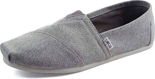 TOMS Men´s Classics Canvas Schuh grey/white Größe: 40 Farbe: grey