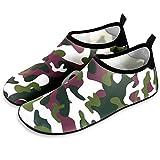 BGROESTWB Calcetines de Buceo Piscina al Aire Libre de la Mujer descalza Calcetines Antideslizante Secado rápido los Zapatos Inferiores Suaves Beach Fácil Ajuste Calzado (Color : Green, Size : 40-41)