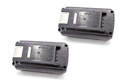 vhbw 2x Li-Ion Akku 3000mAh (36V) für Elektrowerkzeug Werkzeug Powertools Tools Ryobi RCS36X3550HI, RHT36C5525, RHT36C60R15, RLM36X40H, RLM36X40H40