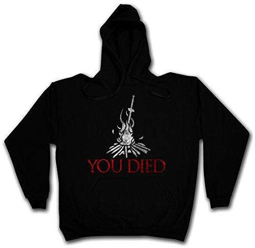 Urban Backwoods You Died Soul Hoodie Kapuzenpullover Sweatshirt Schwarz Größe S