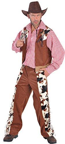 M212233-XL - Disfraz de vaquero para hombre (chaleco y pantaln, talla XL), color marrn