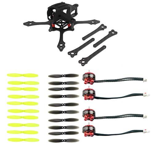 FEICHAO Mini FPV Racer Frame 65mm w / 2-4S Brushless CW CCW Motors 2540 Kit de hélices de 2.5 Pulgadas para Palillos de Dientes RC Racing Drone Parts (with 2.5 2-Blade Paddle)