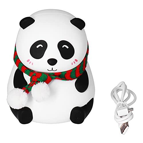 Joyzan Luz de Noche USB, lámpara de Noche de Silicona para mesita de Noche con 7 Colores, Linda lámpara de Panda para hogares, dormitorios, Bares, Tiendas, decoración(B)