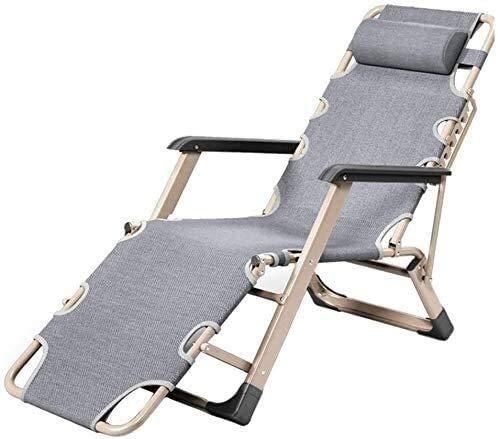 DAGCOT Tumbona sillas reclinables Ajustables sillas de jardín salón con Silla sillas reclinables Gravedad Cero Playa Plegable al Aire Libre Jardín Salón Apoyos Tumbona 200 Kg Silla balancín