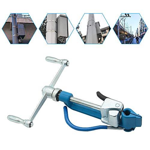 S SMAUTOP Strapping Tensioner Steel Tensioner Metal Banding Tools Handmatige Band Strapping Plier Kabelbinders Bevestigingsgereedschap voor het bundelen en bevestigen van metalen of stalen stroken (spiraal)