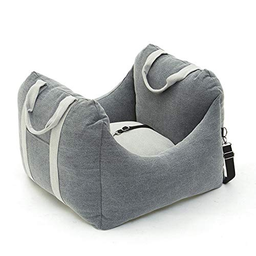 MN1 Dog Car Seat, Dog Seat Cover with Side Flaps, Pet Seat Cover for Back Seat, Perfect for Small Pets,Gray