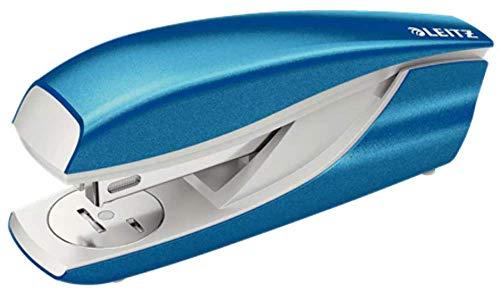 Leitz 55021036 Heftgerät (30 Blatt, Metall mit Kunststoffelementen, Inkl. Heftklammern, NeXXt WOW) metallic blau