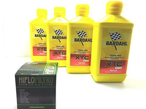 Bardahl - Aceite de motor 4 t Bardhal XTC C60 10W40 + filtro de aceite