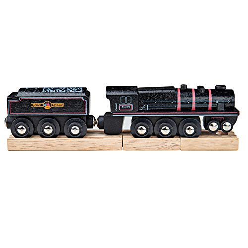 Bigjigs - Locomotora 5, Color Negro (BIBJT454)