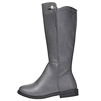 bebe Girls Riding Boots Size 13 Elastic Back Dress Winter Fashion Shoes Grey