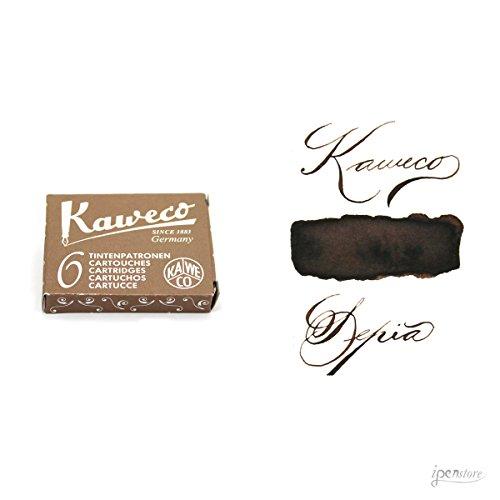 Kaweco 10000259 - Cartuchos de tinta (6 unidades), color marrón