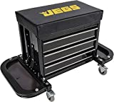 JEGS 81155 3-Drawer Mechanics Roller Seat Toolbox