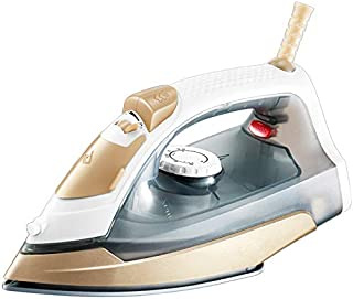 QQT Electric Iron, Household steam Iron, Hand-held Mini Ironing Machine, Iron Iron Ironing Clothes-Gold